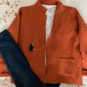 Eileen Fisher 100%wool Blazer Size Medium Orange
